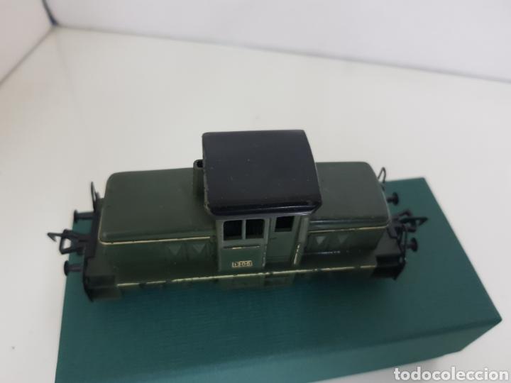 Trenes Escala: Locomotora Fleischmann corta tractora escala H0 corriente continua de 12 cm en verde - Foto 5 - 174547448