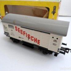 Trenes Escala: FLEISCHMANN - VAGON DE MERCANCIAS SEEFISCHE HO - AÑOS 70. Lote 152840726