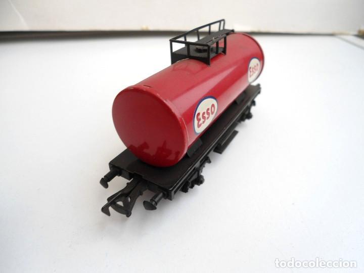 Trenes Escala: FLEISCHMANN - VAGON CISTERNA ESSO HO - AÑOS 70 - Foto 2 - 152841994