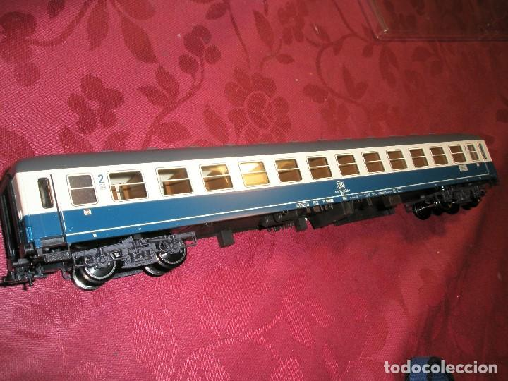 Trenes Escala: LOTE 3 VAGONES FLEISCHMANN DE PASAJEROS AZUL Y CREMA NUEVOS A ESTRENAR REF: 5610...5612...5619 - Foto 5 - 154385226