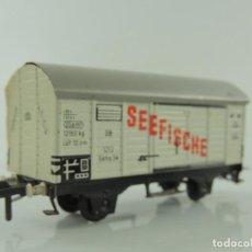 Trenes Escala: VAGÓN FLEISHMANN SEEFISCHE ESCALA H0 GERMANY. Lote 155587802