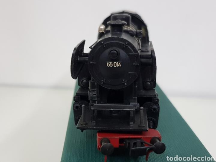Trenes Escala: Locomotora de vapor metálica Fleischmann escala H0 en negro y rojo 20 centímetros - Foto 6 - 155802232