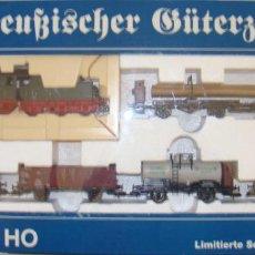 Trenes Escala: SET FLEISCHMANN H0 4891 LOCOMOTORA VAPOR PRUSIANA G8 Y 5 VAGONES KPEV DCC. Lote 156113078