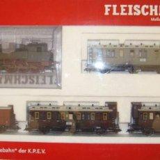 Trenes Escala: SET FLEISCHMANN 481102 K DIGITAL DCC DE LA KPEV 0-6-0 LOCOMOTORA T9 ESCALA H0. Lote 156114462