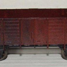 Trenes Escala: VAGÓN ABIERTO ESCALA H0 DE FLEISCHMANN CON RUEDAS DE RADIOS ENVEJECIDO. Lote 156586198
