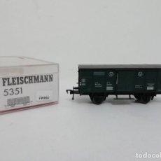 Trenes Escala: FLEISCHMANN H0 5351 VAGÓN MERCANCÍAS NUEVO A ESTRENAR NEW OVP. Lote 156815218