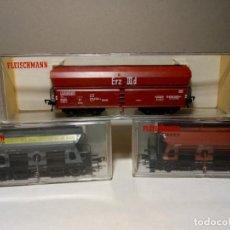 Trenes Escala: FLEISCHMANN H0 - 5510/5511/5520 - VAGONES PARA DESCARGA. Lote 157127330