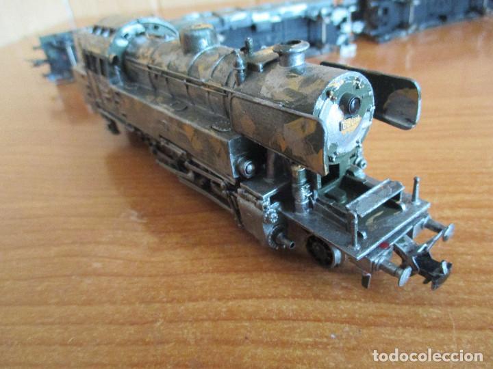 Trenes Escala: FLEISCHMANN H0: TREN MILITAR CUSTOMIZADO COMPUESTO POR LOCOMOTORA Y 3 VAGONES - Foto 7 - 158429866