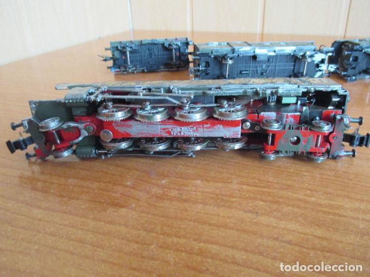 Trenes Escala: FLEISCHMANN H0: TREN MILITAR CUSTOMIZADO COMPUESTO POR LOCOMOTORA Y 3 VAGONES - Foto 11 - 158429866