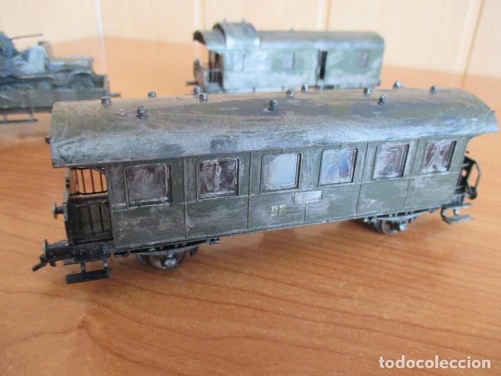 Trenes Escala: FLEISCHMANN H0: TREN MILITAR CUSTOMIZADO COMPUESTO POR LOCOMOTORA Y 3 VAGONES - Foto 14 - 158429866