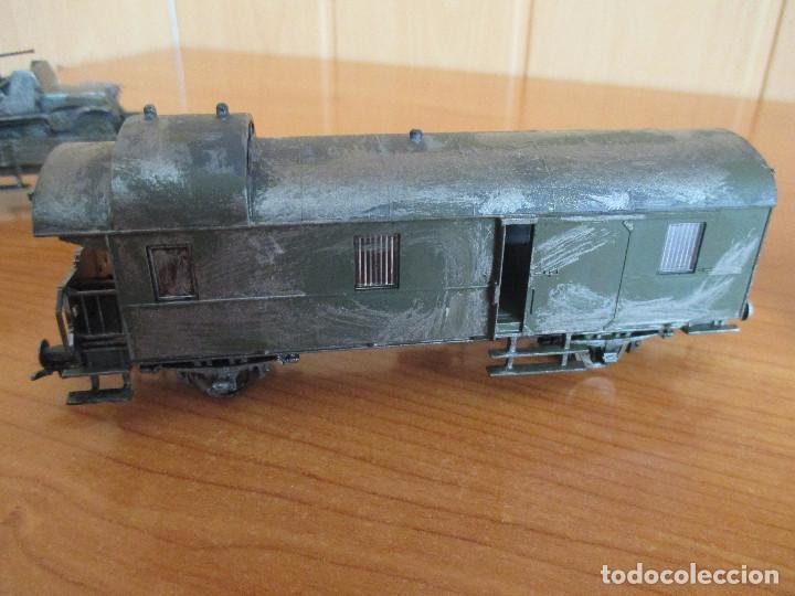 Trenes Escala: FLEISCHMANN H0: TREN MILITAR CUSTOMIZADO COMPUESTO POR LOCOMOTORA Y 3 VAGONES - Foto 15 - 158429866