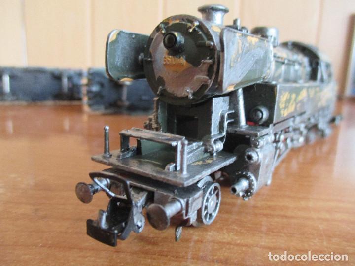 Trenes Escala: FLEISCHMANN H0: TREN MILITAR CUSTOMIZADO COMPUESTO POR LOCOMOTORA Y 3 VAGONES - Foto 21 - 158429866