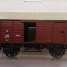 Trenes Escala: FLEISCHMANN HO RF 5816 VAGON PUERTAS CORREDERAS C GARITA ALTA. Lote 160588286