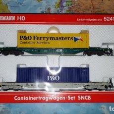 Trenes Escala: SET VAGONES PORTACONTENEDORES FLEISCHMANN REF. 524103. Lote 160862298