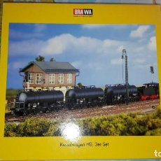 Trenes Escala: SET VAGONES CISTERNA EP. III BOGIES BRAWA 2050. Lote 160863150