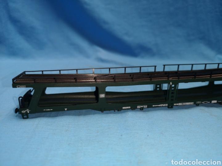 Trenes Escala: Vagon porta coches de Fleischmann 5284, escala h0, le falta el mecanismo abajo - Foto 3 - 166818969