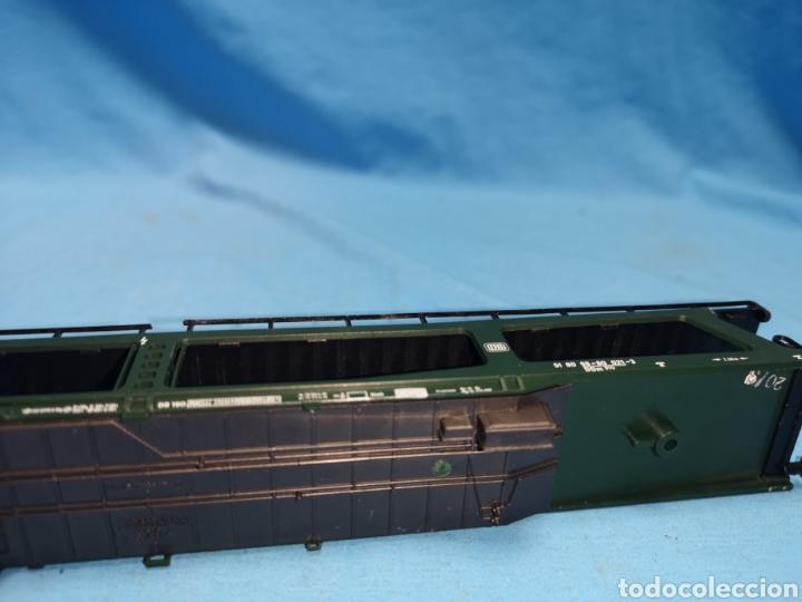 Trenes Escala: Vagon porta coches de Fleischmann 5284, escala h0, le falta el mecanismo abajo - Foto 8 - 166818969