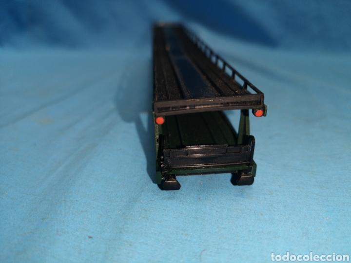 Trenes Escala: Vagon porta coches de Fleischmann 5284, escala h0, le falta el mecanismo abajo - Foto 10 - 166818969