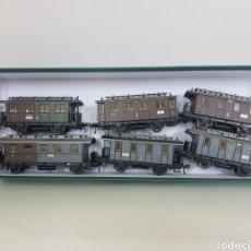 Trenes Escala: SET DE 6 VAGONES FLEISCHMANN ESCALA H0 DE 11 CM. Lote 170090820