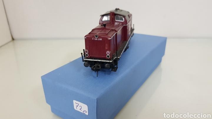 Trenes Escala: Locomotora Fleischmann granate de la DB alemana V100 2181 de 14 cm corriente continua - Foto 2 - 177488340