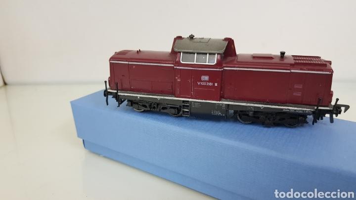 Trenes Escala: Locomotora Fleischmann granate de la DB alemana V100 2181 de 14 cm corriente continua - Foto 3 - 177488340