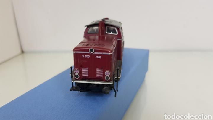 Trenes Escala: Locomotora Fleischmann granate de la DB alemana V100 2181 de 14 cm corriente continua - Foto 4 - 177488340