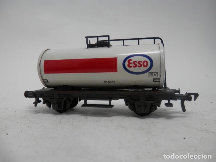 VAGÓN CISTERNA ESSO ESCALA HO DE FLEISCHMANN (Juguetes - Trenes Escala H0 - Fleischmann H0)
