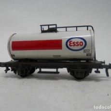 Trenes Escala: VAGÓN CISTERNA ESSO ESCALA HO DE FLEISCHMANN . Lote 177835495