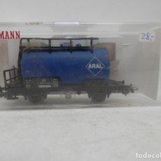 Trenes Escala: VAGÓN CISTERNA ARAL ESCALA HO DE FLEISCHMANN . Lote 177945257