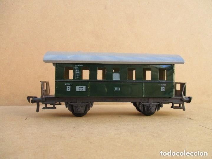 Trenes Escala: FLEISCHMAN TRES VAGONES ANTIGUOS HOJALATA Y PLASTICO - Foto 4 - 179212420