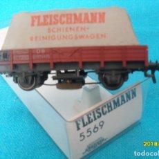 Trenes Escala: VAGON LIMPIAVIAS FLEISCHMANN H0. Lote 180112355
