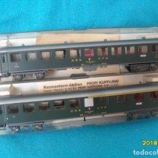Trenes Escala: 2 COCHES VIAJEROS SBB FLEISCHMANN H0. Lote 180112616