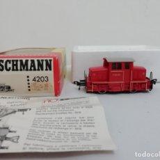 Trenes Escala: FLEISCHMAN H0 4203 LOCOMOTORA DIÉSEL V 42-03 C.CONTINUA DC OVP CON CAJA. Lote 182346491