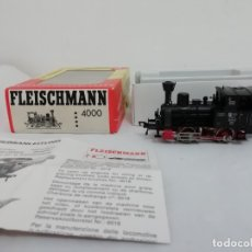 Trenes Escala: FLEISCHMAN H0 4000 LOCOMOTORA DE VAPOR C.CONTINUA DC OVP CON CAJA. Lote 182346523