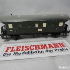Trenes Escala: VAGÓN PASAJEROS 2 EJES ESCALA HO DE FLEISCHMANN . Lote 183318786