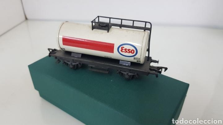 Trenes Escala: Fleischmann escala H0 corriente continua vagón cisterna Esso de 10 cm - Foto 4 - 184360522