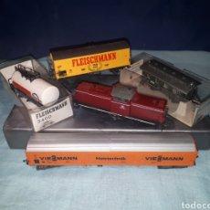 Trenes Escala: LOCOMOTORA FLEISCHMAN DB V100 2075 Y 4 VAGONES FLEISCHMANN HO. Lote 185748532