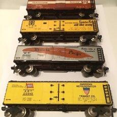 Trenes Escala: LOTE DE VAGONES FLEISCHMANN H0 AMERICANOS. AMERICAN H0. WESTERN PACIFIC CAPITÁN SANTA FE NO MARKLIN. Lote 186023142