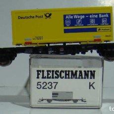 Trains Échelle: FLEISCHMANN VAGON PLATAFORMA CON CONTENEDOR REF 5237. Lote 244202420