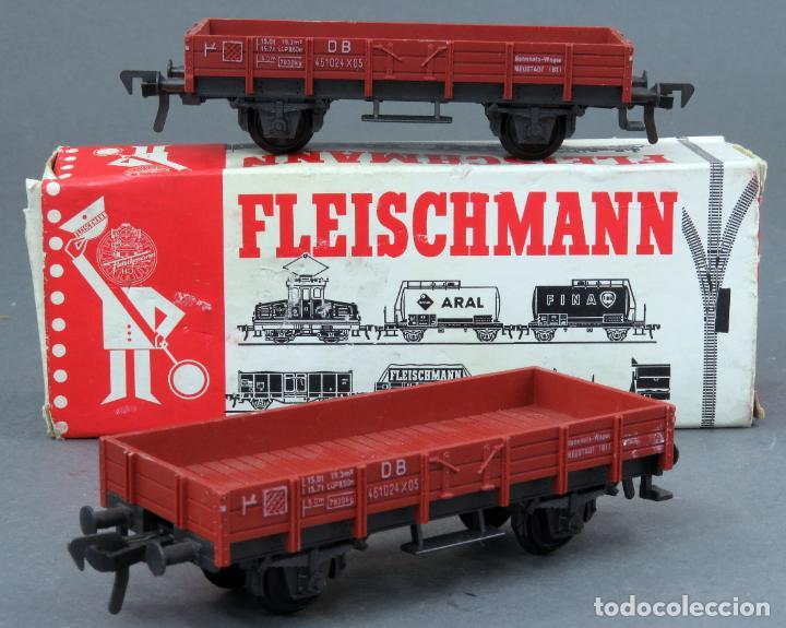 Trenes Escala: 2 vagón borde bajo Fleischmann tren H0 con caja Ref 5011 - Foto 2 - 189270226
