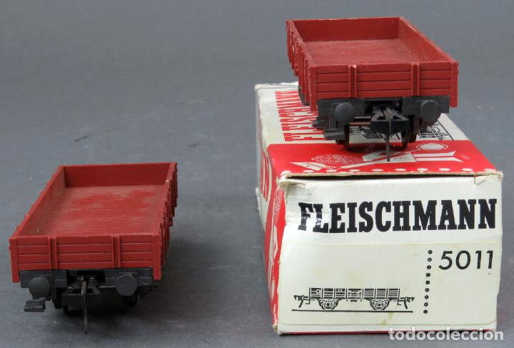 Trenes Escala: 2 vagón borde bajo Fleischmann tren H0 con caja Ref 5011 - Foto 3 - 189270226
