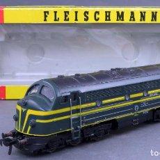 Trenes Escala: LOCOMOTORA DIESEL FLEISCHMANN TREN H0 CORRIENTE CONTINUA 204006 CAJA REF 4270 CON LUZ FUNCIONA. Lote 189343903