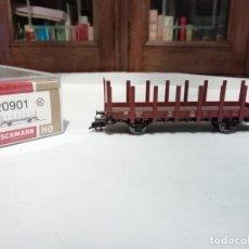 Trenes Escala: FLEISCHMANN H0 520901K VAGÓN DE ESTACAS R02 DB NUEVO NEW OVP. Lote 191892210