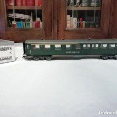 Trenes Escala: FLEISCHMANN H0 5136K VAGÓN PASAJEROS MIXTO 1ª/2ª CLASE SÜDOSTBAHN NUEVO NEW OVP. Lote 191892461