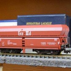 Trenes Escala: FLEISCHMANN H0 VAGÓN TOLVA DE DESCARGA AUTOMATICA, EPOCA III, DE LA DB, REFERENCIA 5520.. Lote 193936356
