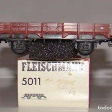 Trenes Escala: VAGON BORDES BAJOS DE FLEISCHMANN REF: 5011 ESCALA HO. Lote 193944507