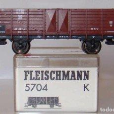 Trenes Escala: VAGON BORDES ALTOS DE FLEISCHMANN ESCALA HO REF.: 5704. Lote 194005882