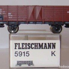 Trenes Escala: VAGON BORDES ALTOS DE FLEISCHMANN ESCALA HO REF.: 5915. Lote 194005927