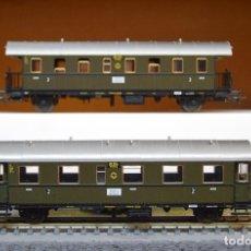 Trenes Escala: FLEISCHMANN H0 2 COCHES DE VIAJEROS DE LA DRG, EPOCA II, REFERENCIAS 5071 K Y 5073 K.. Lote 194748748