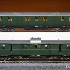 Trenes Escala: FLEISCHMANN H0 2 COCHES-FURGÓN DE LA DRG, EPOCA II, REFERENCIAS 5084 K Y 5088 K.. Lote 194748980